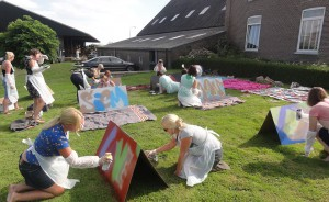 Vrijgezellefeest kekedom graffiti workshop