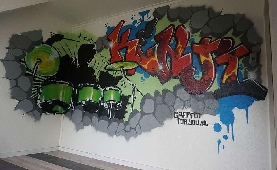 Drummer Graffiti music Zwolle