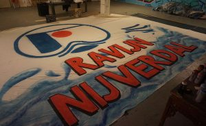 Spandoek Graffiti Nijverdal waterpolo ravijn