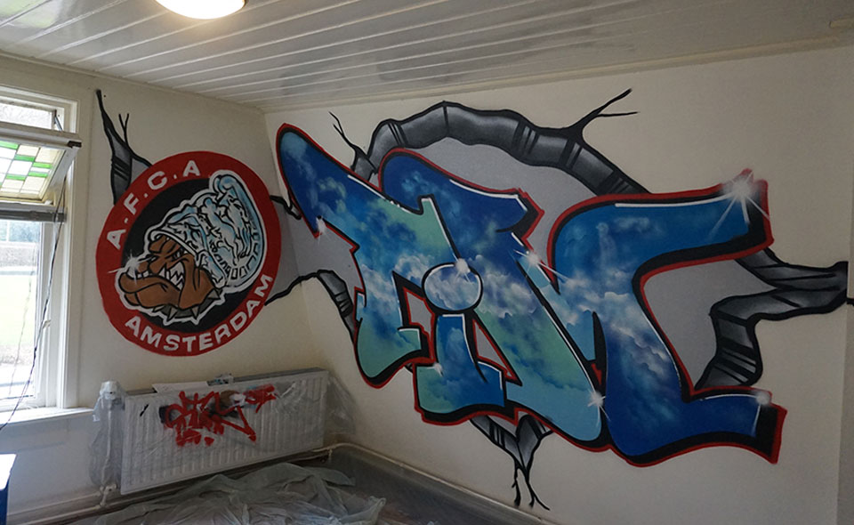 Slaapkamer graffiti - Graffiti for You