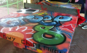 tafel tennistafel graffiti