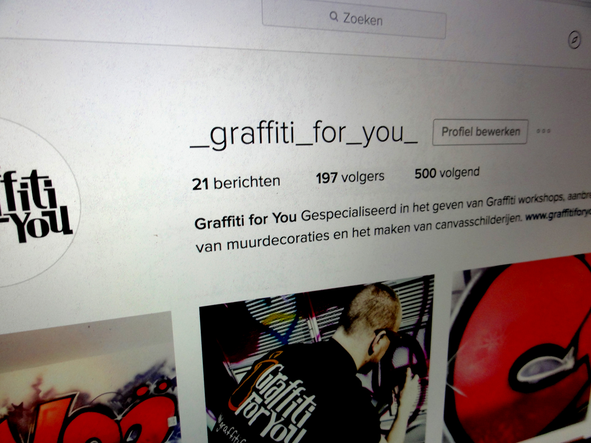 Graffiti for You op Instagram