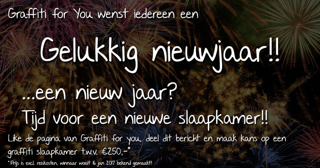 facebook nieuwjaars actie Graffiti for You
