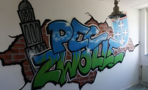 Pec Zwolle Graffiti wall