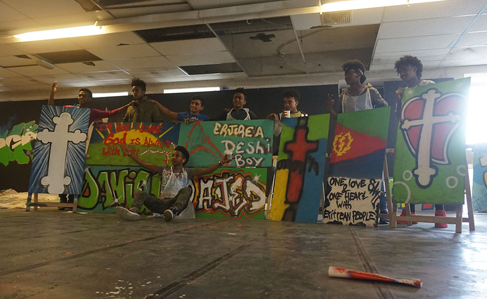 jongeren graffiti workshop